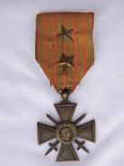 CROIX De GUERRE 1914-1917 + 2 CITATIONS Originale PAS Repro !! - France