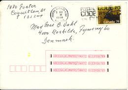 Canada Cover Sent To Denmark 6-12-1988 Single Franked - 1952-.... Elizabeth II