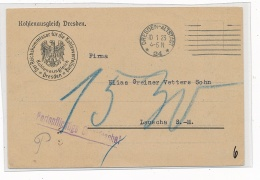 Dienst Post- Dresden   ( G4502  ) Siehe Foto - Briefe U. Dokumente