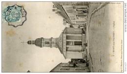 """Cachet Convoyeur """"Poligny A Dole 1905"""" Blanc Cp Mont Sous Vaudrey Pour Dole - Marcophilie (Lettres)"""