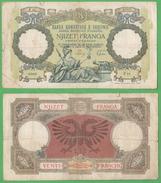 Albania War Currency 20 Franga 1939  Occupazione Italiana - Non Classificati