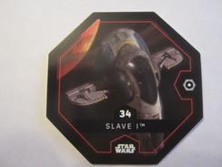 JETON STAR WARS COLLECTION LECLERC 2016 N 34 SLAVE I - Gift Cards