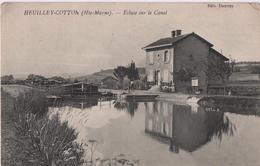 Heuilley-Cotton  Ecluse Sur Le Canal De La Marne à La Saône Avec Péniche - France