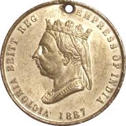 INGLATERRA. REINA VICTORIA. MEDALLA DEL JUBILEO 50 ANIVERSARIO. 1.887. GREAT BRITAIN MEDAL - Monarquía/ Nobleza