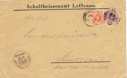 20505. Carta Service Official LOFFENAU (Alemania Reich)  1921. Oval Mark Officiel - Oficial