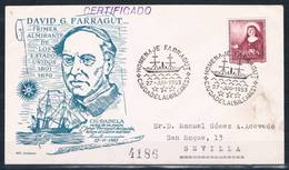 1953.-  CIUDADELA (BALEARES) A SEVILLA - 1931-50 Cartas
