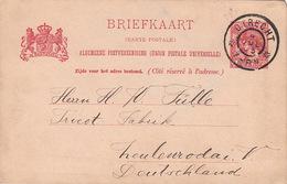 Entier Utrecht Pour L'Allemagne - Postal Stationery