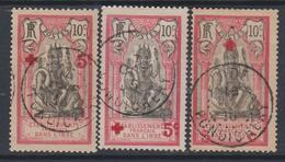 Inde N° 43 / 44 + 47 O  Au Profit De La Croix-Rouge : Les 3 Valeurs Oblitértions Assez Belles Sinon TB