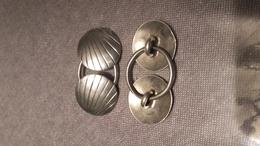 2 Paires Boucles De Cape,argent,silver,P 15.2 - Manschetten- U. Kragenknöpfe