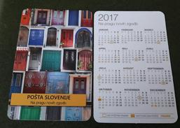 Pocket  Small Calendar Slovenia  Slovenia Post 2017 Entrance Door - Calendarios