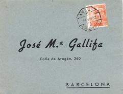 20513. Frontal SAN FELIU De GUIXOLS (Gerona) 1952. AMBULANTE Ferrocarril - 1931-Aujourd'hui: II. République - ....Juan Carlos I