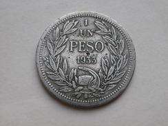 Chili 1 Peso 1933  KM# 176.1 Cupronickel TTB - Chili