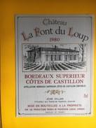 2672 - Château La Font Du Loup 1980 Côtes Du Castillon - Bordeaux