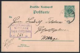 LT37      Deutsches Reich - Postkarte 1895 Von Bohmte Nach Wittlage - Germania
