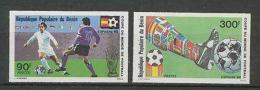 734 Football (Soccer) Espana 82 - Neuf ** MNH - Bénin N°  539/540 Non Dentelé (imperforate) - World Cup