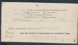 Hessischer Postschein .... ( Ze2731  Siehe Foto - Non Classés