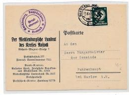 Rostock  Dienst  .... Beleg  ( G4822  )  Siehe Foto - Deutschland