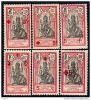 Inde N° 43 / 48 X  Au Profit De La Croix-Rouge La Série Des 6 Valeurs Trace De  Charnière Sinon TB