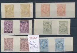 Belgien Lot  Probe- Kehrdrucke Aus 1893  Telefon Marken  ( Ze3204  )  Siehe Foto - Probe- Und Nachdrucke