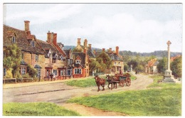 RB 1134 - J. Salmon ARQ A.R. Quinton Postcard - Horse & Catr At War Memorial Broadway Worcestershire - Worcestershire