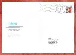 Grossbrief, EF Hambacher Schloss, Laatzen Ueber Briefzentrum 66 Nach Hannover 1998 (33981) - [7] République Fédérale
