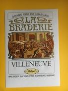 2706 -  Suisse Vaud Villeneuve La Grande Braderie - Etiquettes