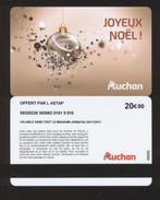 GIFT CARD - Carte Cadeau Auchan - JOYEUX NOEL - 20 € - L'ASTAP - Cartes Cadeaux