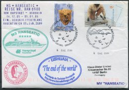 2006 MS HANSEATIC Hapag Lloyd Ship Cover. Argentina Ushuaia, Tierra Del Fuego, Antarctic Penguin - Argentine