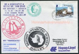 2005 MS HANSEATIC Hapag Lloyd Ship Cover. B.A.T. Halley Penguin Walrus - British Antarctic Territory  (BAT)