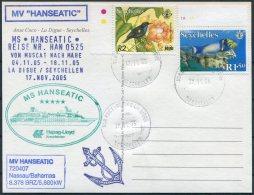 2005 MS HANSEATIC Hapag Lloyd Ship Postcard. Seychelles La Digue - Seychelles (1976-...)