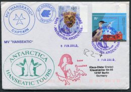 2005 MS HANSEATIC Hapag Lloyd Ship Cover. Argentina Antarctic Isla Laurie, Penguin - Argentine