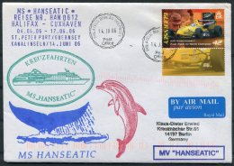 2006 MS HANSEATIC Hapag Lloyd Ship Cover. Guernsey Dolphin - Guernsey