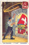 1916   CARTE FETE NATIONALE N° 15  SANS TIMBRE IMPRIME   CATALOGUE ZUMSTEIN - Suisse