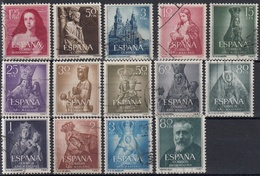 ESPAÑA 1954 Nº 1129/1142  AÑO USADO COMPLETO,14 SELLOS - Spain