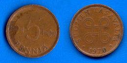 Finlande 5 Pennia 1970 Finland Penni Non Euro Paypal Skrill Bitcoin OK - Finlande