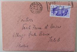 LETTERA 1941 FRANCOBOLLO DUCE HITLER (39L - Marcophilia