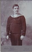 CABINET FOTO. CDV -  BIALA, BIELITZ - AUSTRIA, K.u.K. KRIEGSMARINE  --  SAILOR, BAYO -  PHOTO: HELIOS --  10,5 Cm X 6,5 - 1914-18