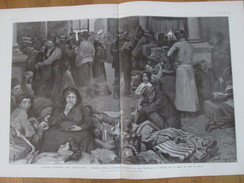 Emigration  Flux Migratoire Italiens La Gare Saint Lazare  Le Havre L Amérique  +  écouteuse Des Trepassés Bretagne - Old Paper