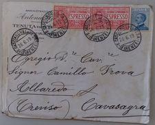 ESPRESSO 1919 TENUTA DEL CORNO  AFFARANCATURA MULTIPLA (54L - Storia Postale