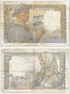 """BANCONOTA 1943 FRANCIA - FRANCE 10 FRANCS """" Minatore"""" P99 Datata 9.9.1943 - 1871-1952 Antichi Franchi Circolanti Nel XX Secolo"""