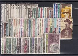 ESPAÑA 1962 Nº 1406/1480 AÑO USADO COMPLETO CON ESCUDOS,75 SELLOS - España