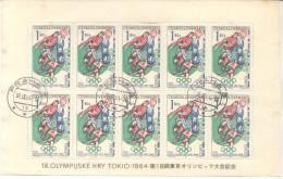 CZECHOSLOVAKIA - CESKOSLOVENSKO - CECOSLOVACCHIA 1964 SUMMER OLYMPIC GAMES TOKYO  OLIMPIADAS DE VERANO 64  FOOTBALL