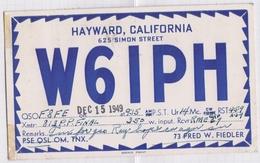 6AI4871 CARTE QSL Radio Amateur HAYWARD CALIFORNIA USA 1949  2 SCANS - Radio Amateur