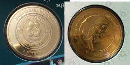 Malaysia Coin 2016 1 Ringgit  Girl Guides 100 Years Nordic Gold BU Coin Card - Malaysia