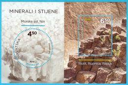 MINERALS AND ROCKS ( 2016.) - Croaziia Block MNH**  -  Geology Mineral Geological Geologie Geologia - Geologia