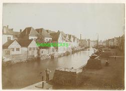 """MECHELEN MALINES Zeldzame Albumine Foto """" De Dijk """" Rond 1900-1910  Trenkler & Co - Lieux"""