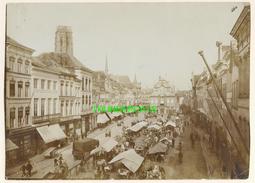 "MECHELEN MALINES Zeldzame Albumine Foto "" Marktdag "" Rond 1900-1910  Trenkler & Co - Lieux"