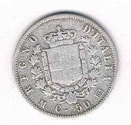 50 CENTESIMI  1863 BN ITALIE /201B/