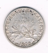 1 FRANC 1905 FRANKRIJK /204B/
