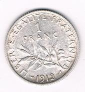1 FRANC 1912 FRANKRIJK /205B/
